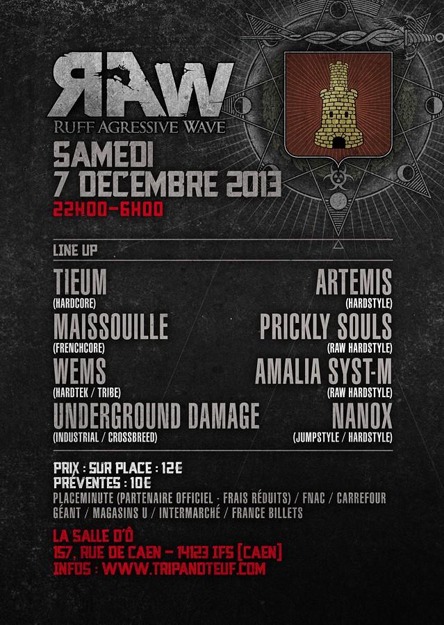 [ Ruff Agressive Wave (R.A.W) - Samedi 7 Décembre 2013 - La Salle d'Ô - Caen ] Flyer-14