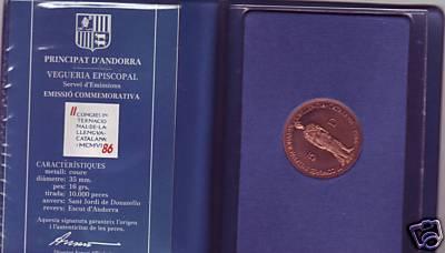 Principado de Andorra, 5 diners, 1986. Aa07_110