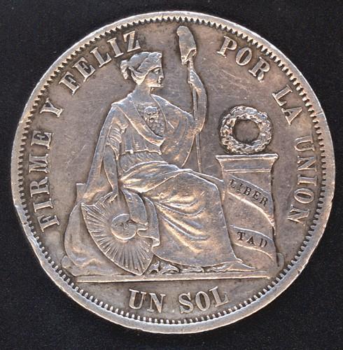 Perú, 1 sol, 1864. Peru1811