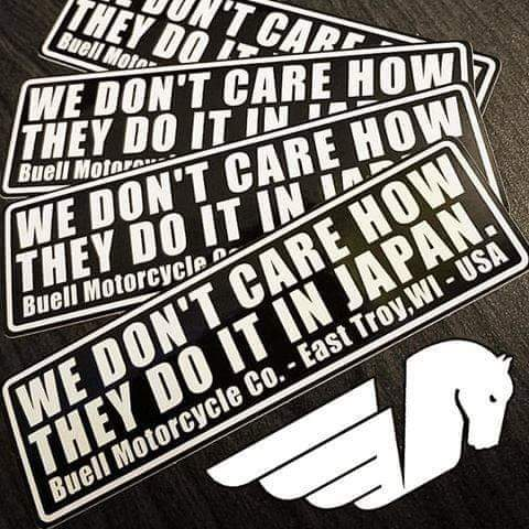 """Sticker """"We don't care how they do it in Japan""""  Receiv13"""