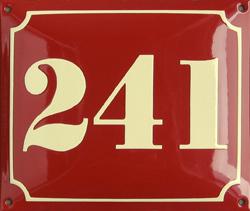 Le nombre de votre domicile 24110