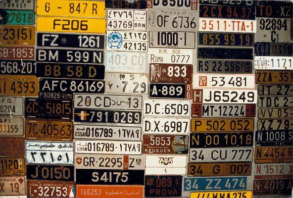 Le nombre de votre voiture Plaque10