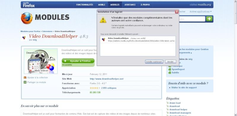 Downloadhelper : comment télécharger une vidéo sur internet sans logiciel ? [Astuces du forum] Sans_204