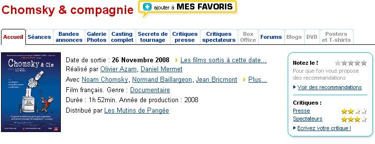 Chomsky & compagnie - Daniel Mermet Sans_t89