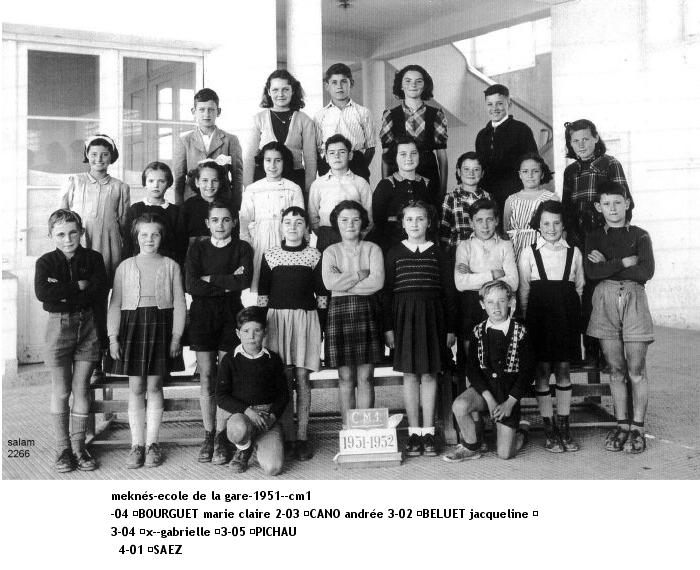 l'Ecole de la Gare 1951-c10