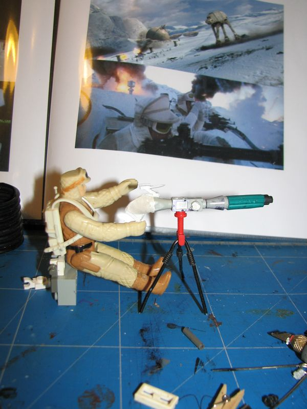 "Making of Diorama ""Hoth battle"". Star wars vintage empire contre attaque. 0207110"