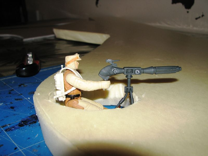 "Making of Diorama ""Hoth battle"". Star wars vintage empire contre attaque. 0210110"
