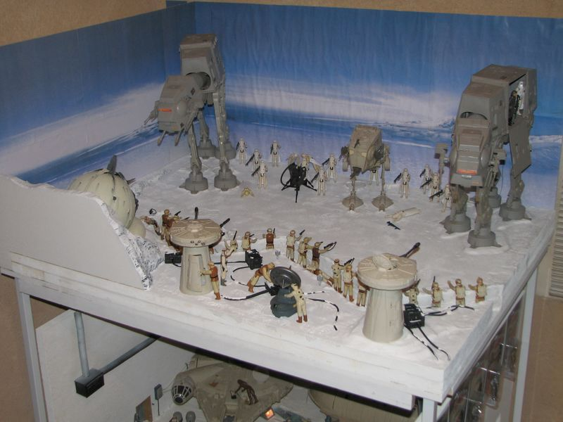 """Making of Diorama """"Hoth battle"""". Star wars vintage empire contre attaque. - Page 5 Battle10"""