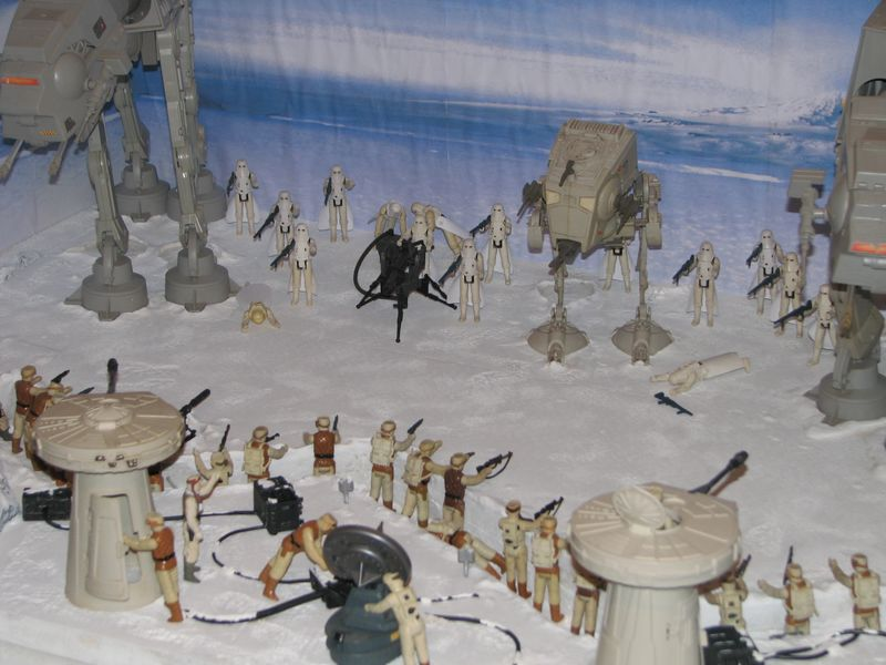 """Making of Diorama """"Hoth battle"""". Star wars vintage empire contre attaque. - Page 5 Battle11"""