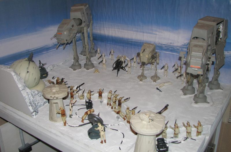 """Making of Diorama """"Hoth battle"""". Star wars vintage empire contre attaque. - Page 5 Battle12"""