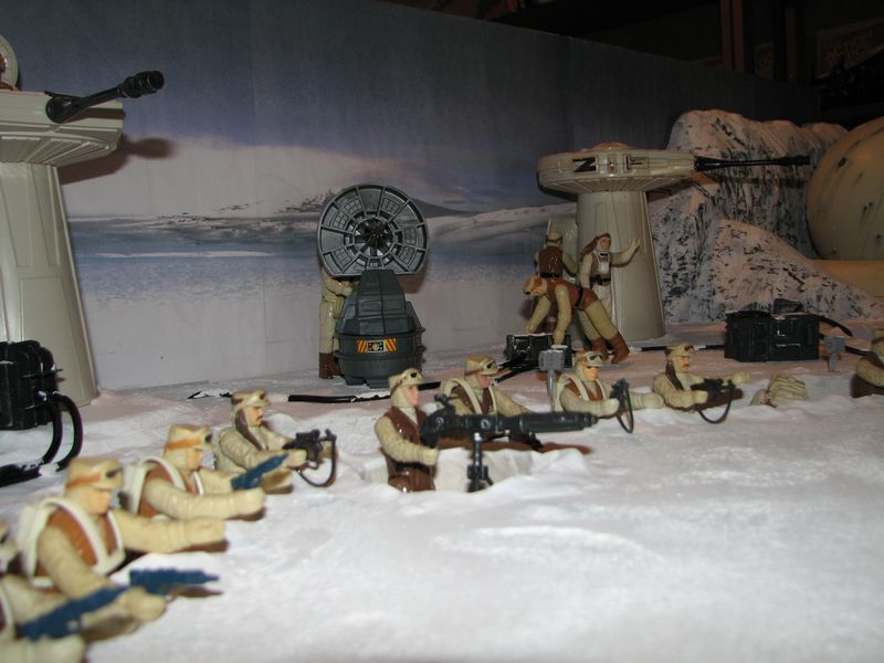 """Making of Diorama """"Hoth battle"""". Star wars vintage empire contre attaque. - Page 5 Battle17"""