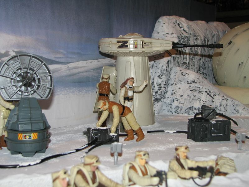 """Making of Diorama """"Hoth battle"""". Star wars vintage empire contre attaque. - Page 5 Battle19"""