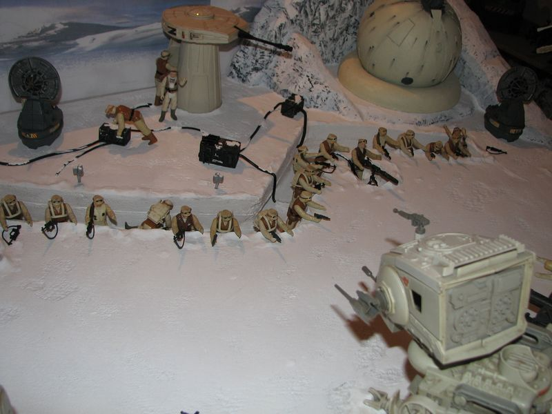 """Making of Diorama """"Hoth battle"""". Star wars vintage empire contre attaque. - Page 5 Battle21"""