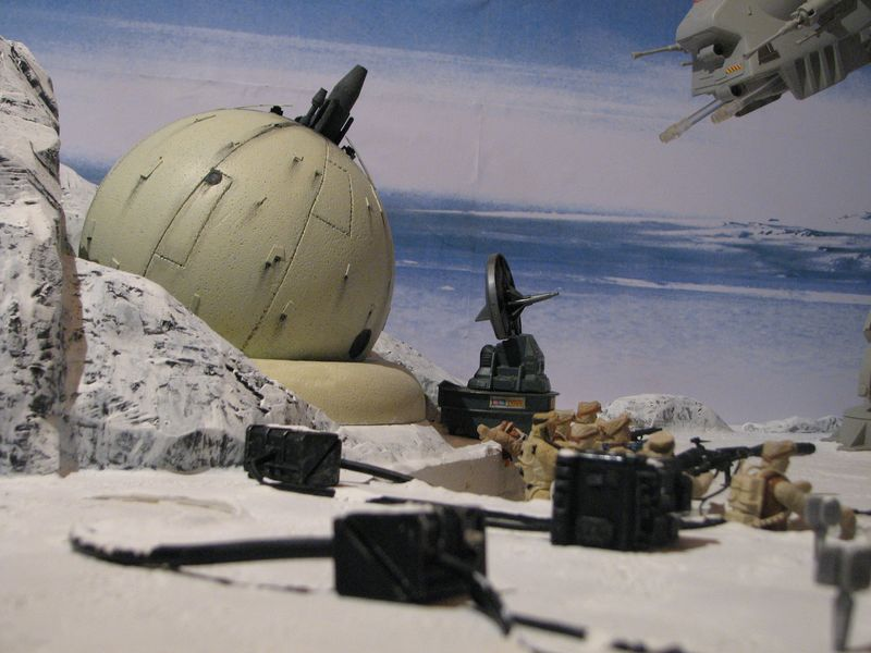 """Making of Diorama """"Hoth battle"""". Star wars vintage empire contre attaque. - Page 5 Battle22"""