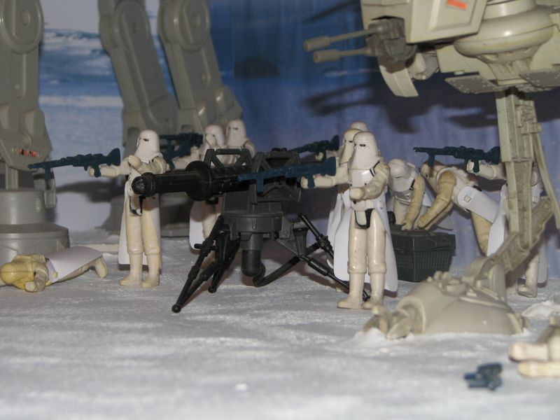 """Making of Diorama """"Hoth battle"""". Star wars vintage empire contre attaque. - Page 5 Battle27"""