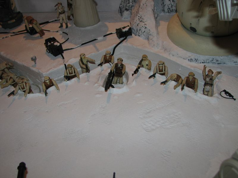 """Making of Diorama """"Hoth battle"""". Star wars vintage empire contre attaque. - Page 5 Battle29"""