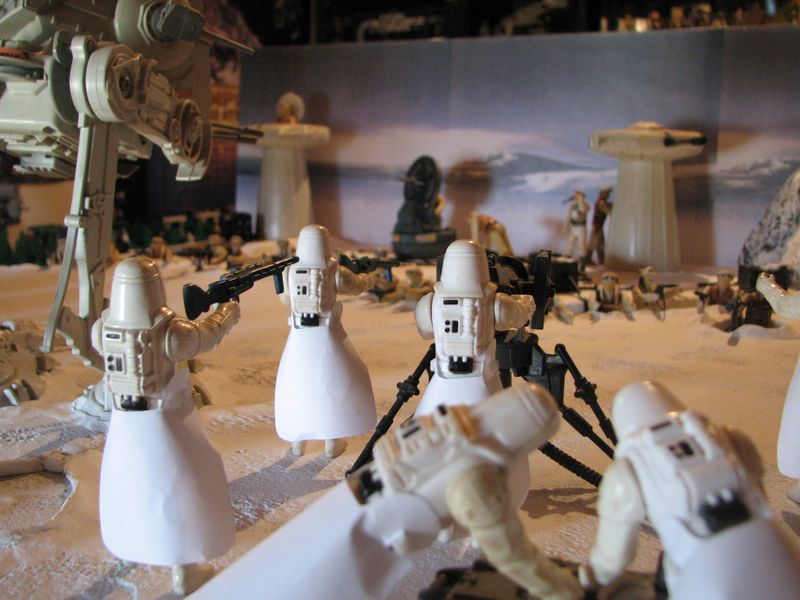 """Making of Diorama """"Hoth battle"""". Star wars vintage empire contre attaque. - Page 5 Battle30"""