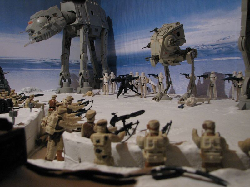 """Making of Diorama """"Hoth battle"""". Star wars vintage empire contre attaque. - Page 5 Battle32"""