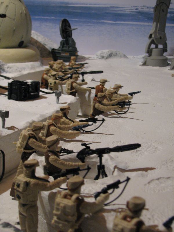 """Making of Diorama """"Hoth battle"""". Star wars vintage empire contre attaque. - Page 5 Battle35"""