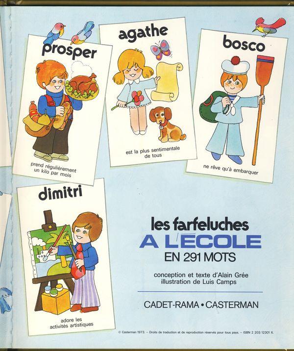 Les farfeluches  livres éducatifs vintage dessin de A.Gree Farche10