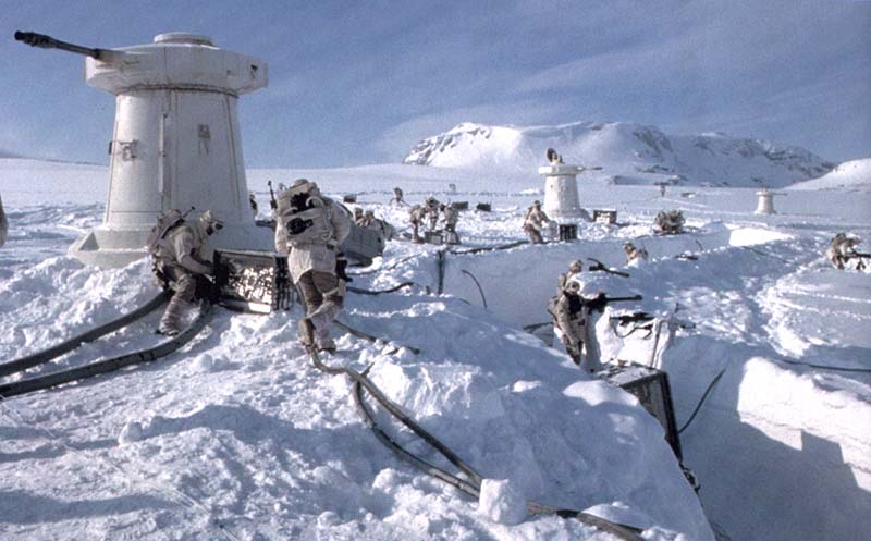 "Making of Diorama ""Hoth battle"". Star wars vintage empire contre attaque. Hoth_g10"
