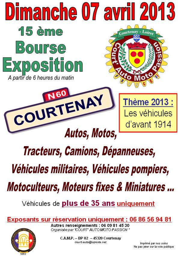 Expo de Véhicules à Courtenay (Loiret) Affich10