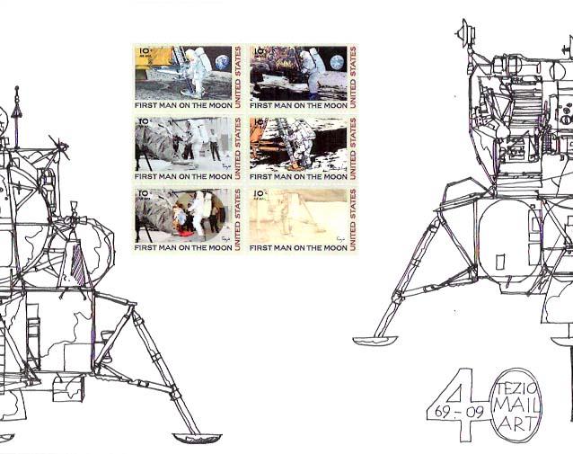 40 ans Apollo 11 / Oeuvre d'art pour collectionneur Bloc10