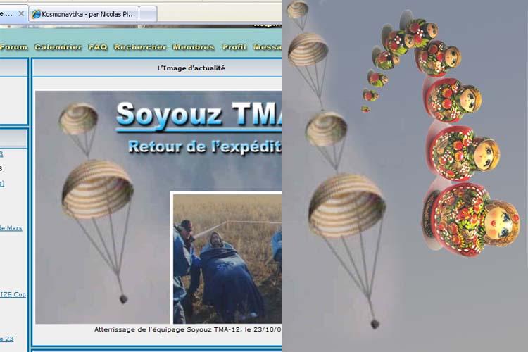 Retour du Soyouz TMA 12 - Page 2 Matrio10