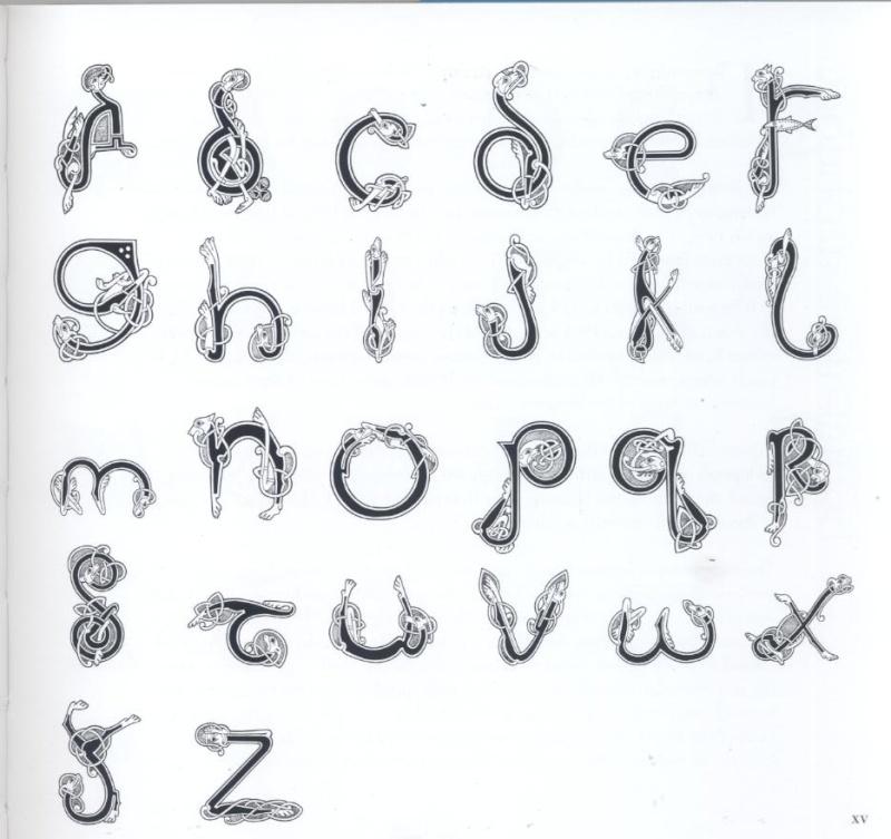 pour dessiner des lettrines celtiques