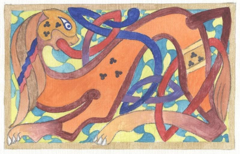J'aime les entrelacs et autres dessins celtiques - Page 13 Lion_c10