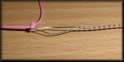 Montage d'un élastique intérieur sur scion creux Image510