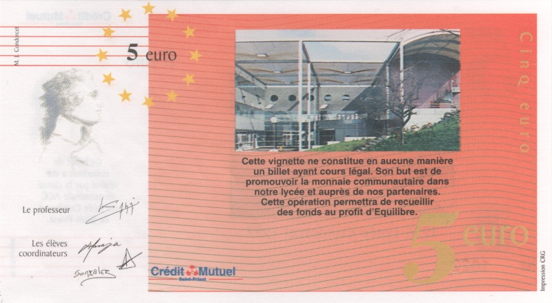 Premiers billets en Ecu/Euro 00213