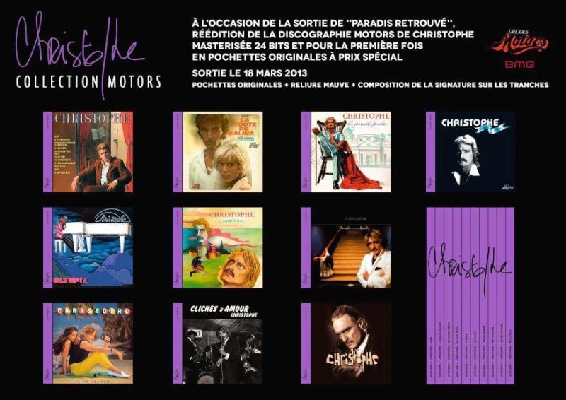 """La sortie de """"Paradis retrouvé"""" et de la réédition de la discographie Motors 32055710"""