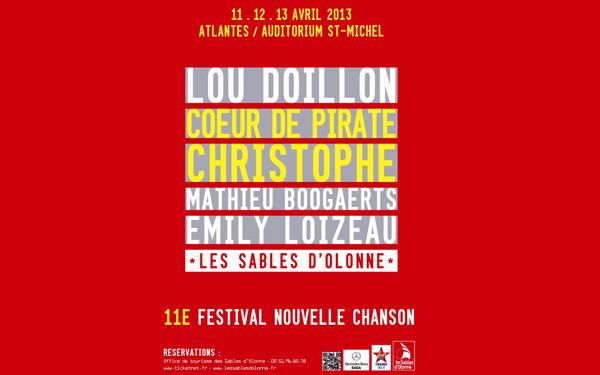 """Christophe """"FESTIVAL DE LA NOUVELLE CHANSON""""  Les Sables d'Olonne (85)  Affich10"""