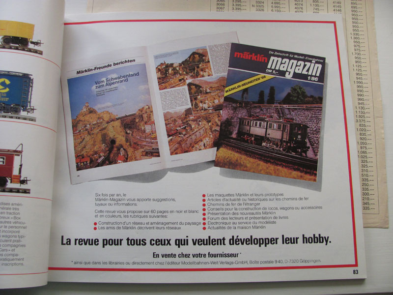 [Märklin] Catalogue 1986-1987 Img_0237