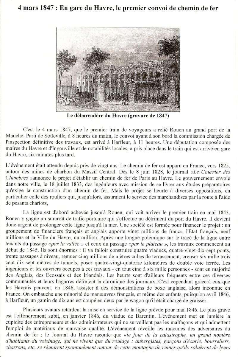 1847 - Train Rouen-Le Havre, PAILLETTE, Tremblement de terre ... Train110
