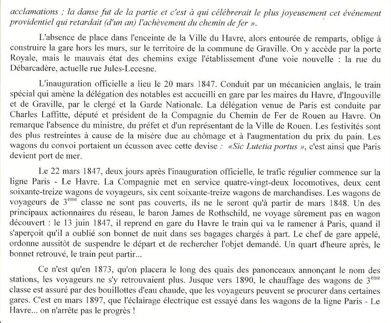 1847 - Train Rouen-Le Havre, PAILLETTE, Tremblement de terre ... Train210