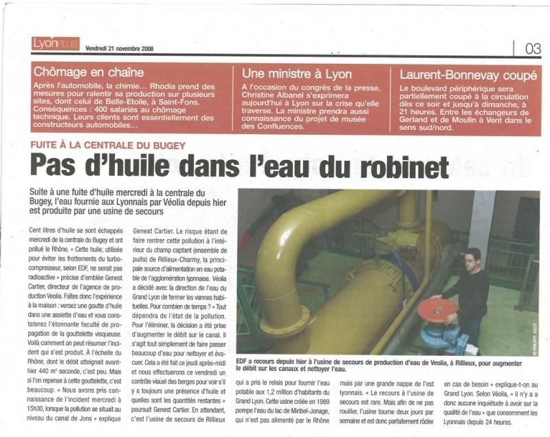 fuite d'huile dans le rhone / pompage de miribel Veolia10