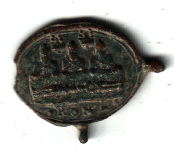 Jolie petite médaille - St Charles Borromée en prière devant ND de Mondovi - XVIIème A2512