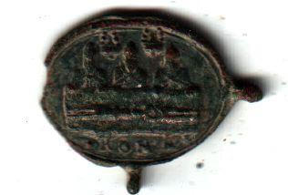 Jolie petite médaille - St Charles Borromée en prière devant ND de Mondovi - XVIIème A2810