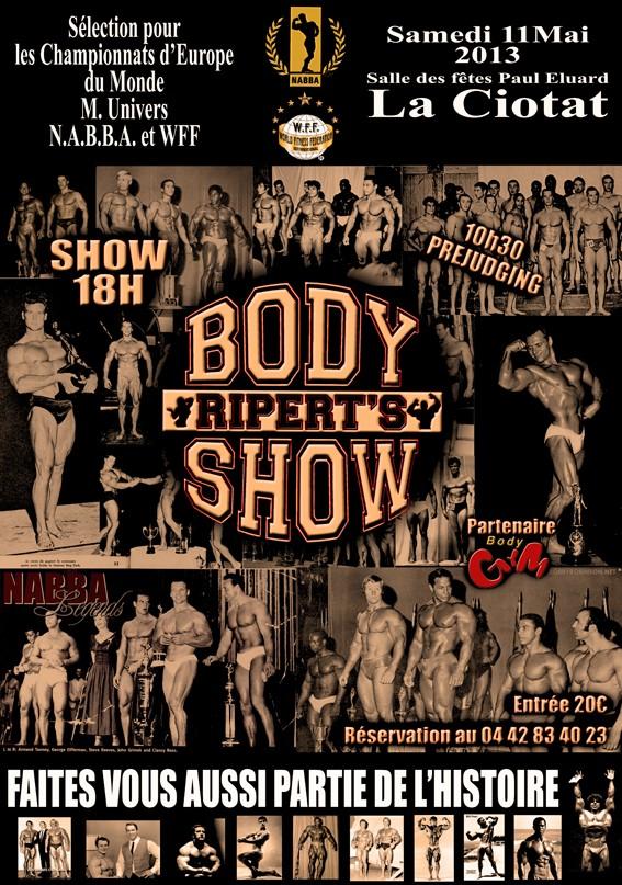 body - Ripert's Body Show 2013 Affich10