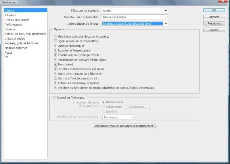 Comment configurer l'espace de travail sous PhotoShop 1610