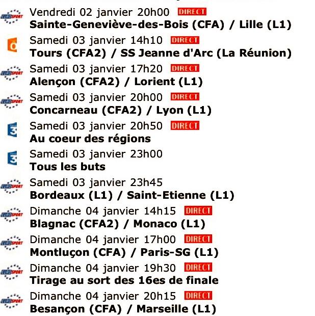 Coupe de France - 32èmes de Finale Sc1j1v11