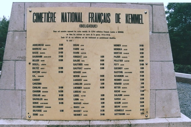Cimetière National Francais de Kemmel (Belgique) Image-28