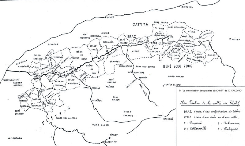 خريطة القبائل العربية والبربرية في سهل شلف 0501or10