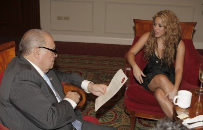Shakira at a private meeting at the annual Ibero-American summit in San Salvador - October 30 64512