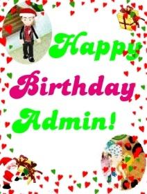 Happy Birthday Admin Lunapi10