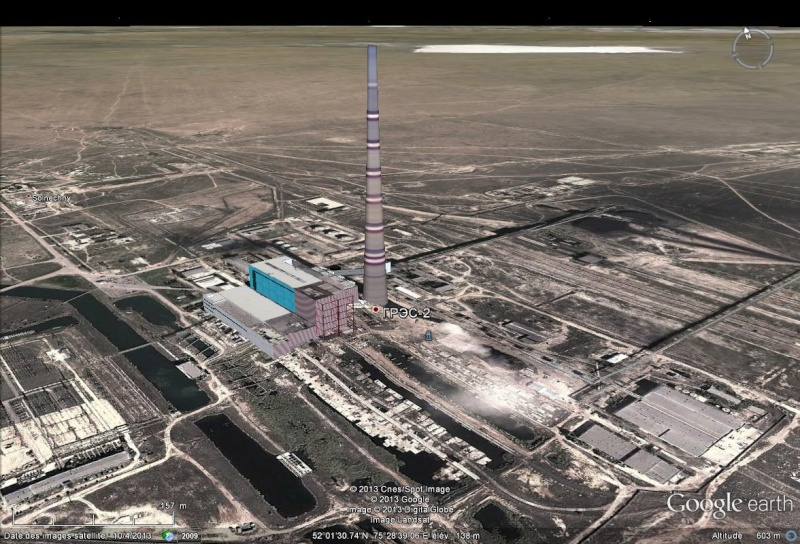 'Ekibastouz la plus haute cheminée du monde Chemin10
