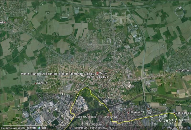 la ville de Menin bannit la langue française Menin10