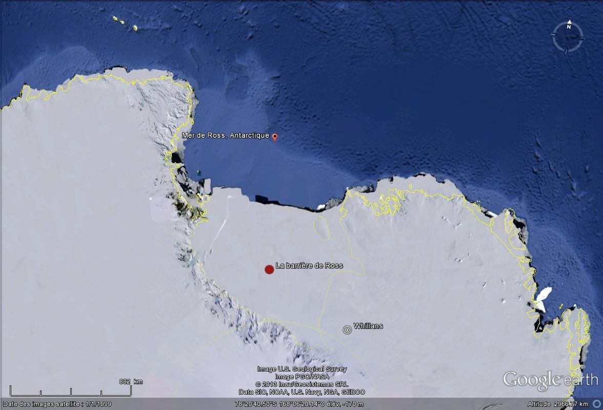 La barrière de Ross cache le premier estuaire découvert en Antarctique Mer_de10